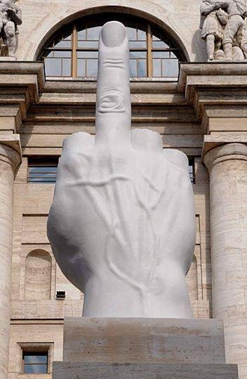 "M<3 Maurizio Cattelan, ""L.O.V.E"", Milan, Italy"