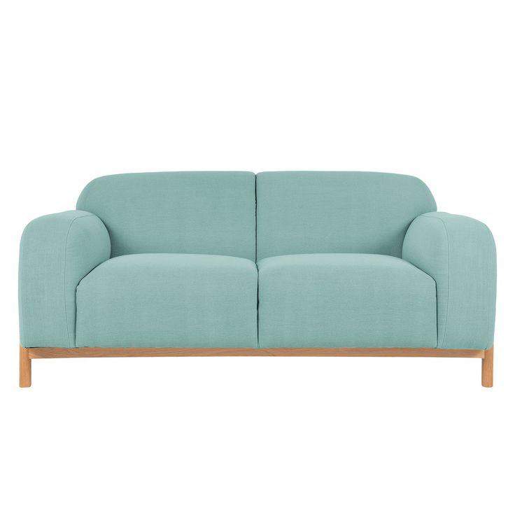 Sofa Melby (2-Sitzer) - Webstoff - Hellblau