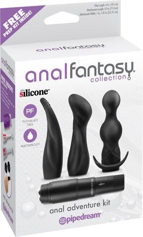 Www.infosextoy.com 081223663665 Anal Adventure Vibrating Kit  The key to anal play is to take it slow! Attempting anal penetration before you are properly aroused can be unpleasant, so allow yourself to relax in order to enjoy the experience. Finger play is a great way to relax the anus http://www.sub-shop.com/collections/waterproof-vibrators/products/anal-adventure-kit