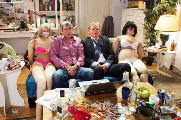 Martin Clunes and Neil Morrissey doing a TV special for testicullar cancer as Gary and Tony from Men Behaving Badly, Oct 2014