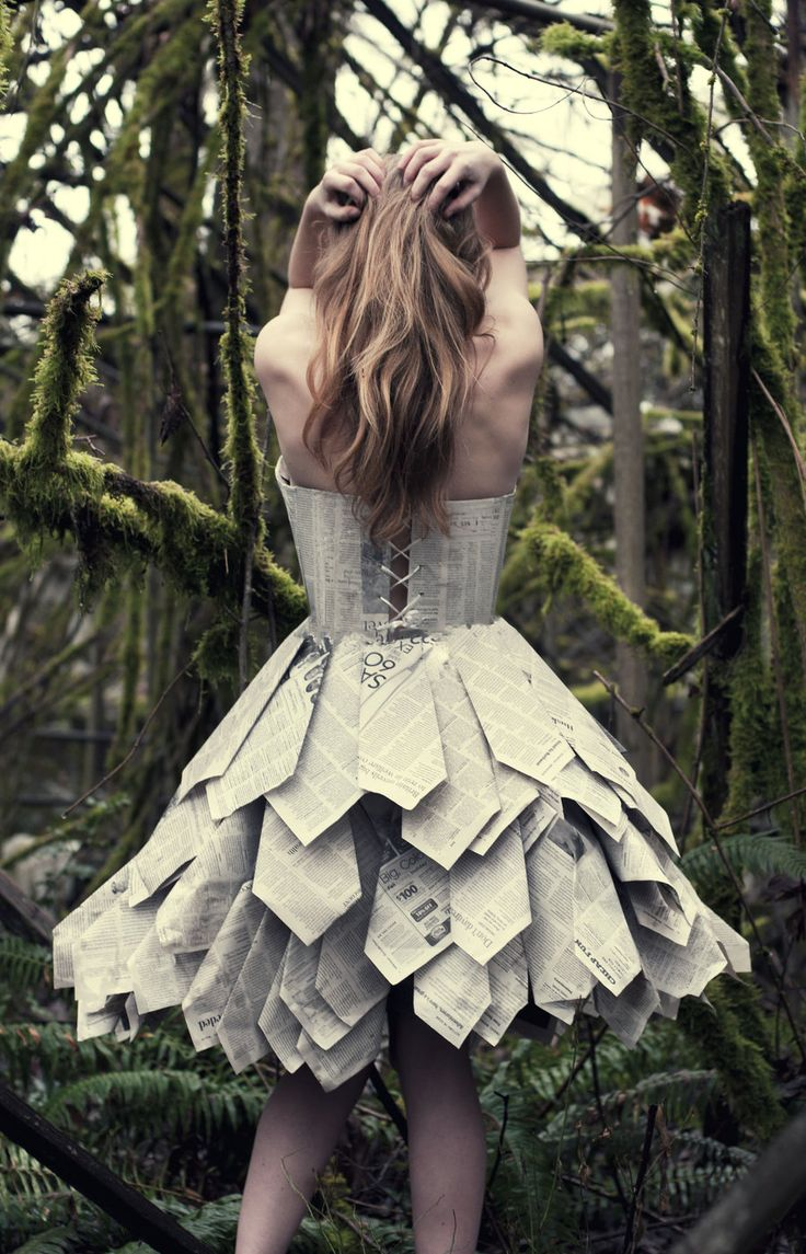 Paper Dress Back by Swimming-Up-Currents.deviantart.com