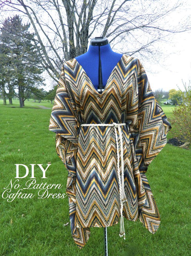 DIY No Pattern Caftan Dress! http://makingitwithdanielle.com/2012/03/25/no-pattern-caftan-dress/