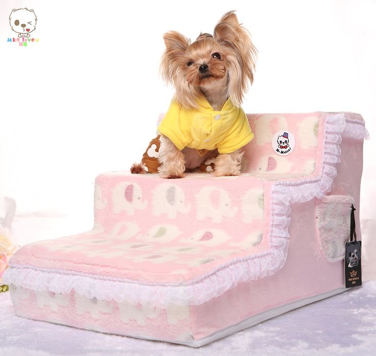 Симпатичные шерсть домашних животных собака кошка Лестницы для маленьких собак anti-slip высокой Плотности Пены pet шаги коврик для кровати со съемной мягкой крышка(China (Mainland))