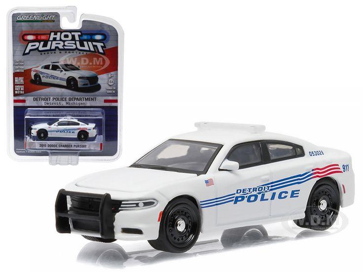 2015 Dodge Charger Pursuit Detroit Police Car 1/64 Diecast Model Car Greenlight 42770 D