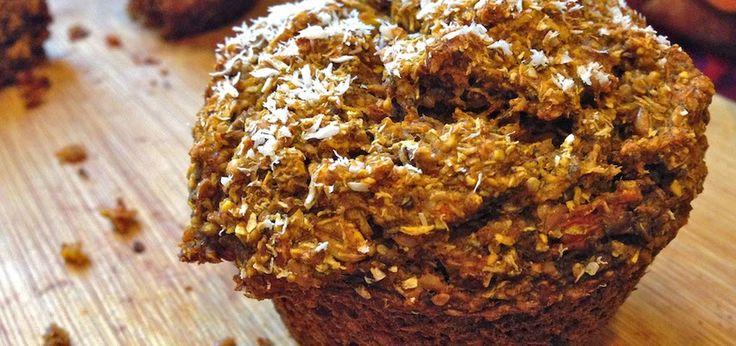Muffins de avena y chia para activar el intestino - sin lácteos