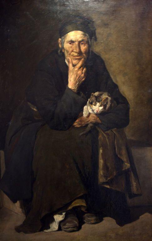 Ροϊλός Γεώργιος-Η γριά με το γατάκι, Old woman with kitten