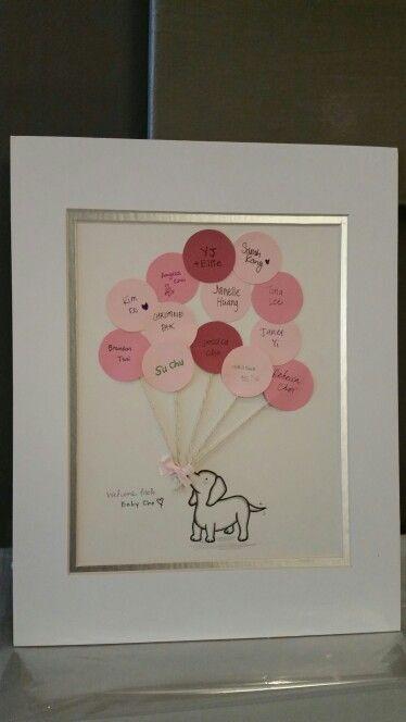 Pink Puppy baby shower guestbook