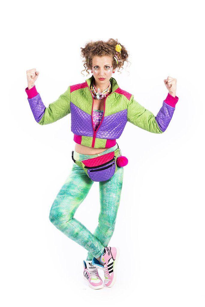 State of Disarray! Purple & Green Cropped - Puffer Jacket  #stateofdisarray #recklessfashionrevolution #festivalfashion #festivaloutfit #streetstyle #fashiondesigner #summerstyle #ootd #croppedjacket #pufferjacket #glitter #greenandpurple #fashionweek #ravewear #clubkid #edm #secretgardenparty #burningman #boomtown #coachella #glastonbury #ibiza #shambala #rainbow #bubblegum #candyfloss #80's #fancydress #dressup #costume #statementfashion #harajukufashion #kawaiifashion #kawaii #harajuku