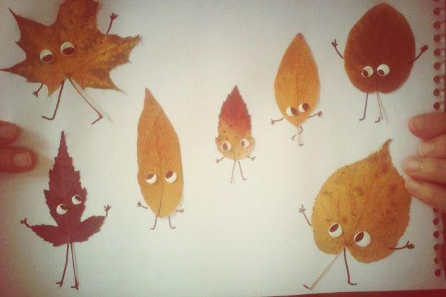 Kids Wanna Riot blog: Осенние аппликации из листьев LEAF ART