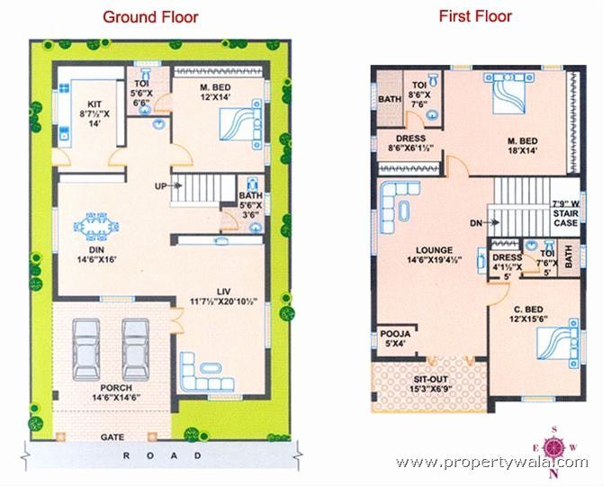 House Plans According To Vastu North Facing House West Facing