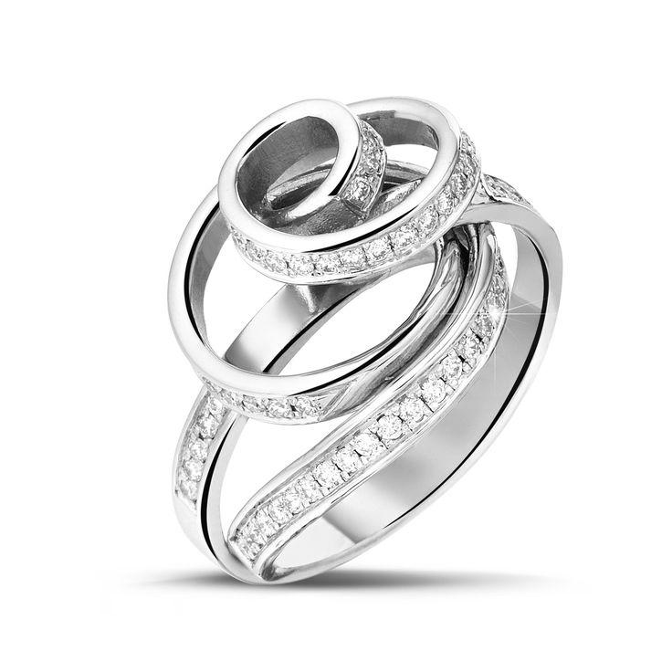 Ring 'Dancing Lady' - White gold, diamonds  Elke Peeters for Baunat  www.elkepeeters.com