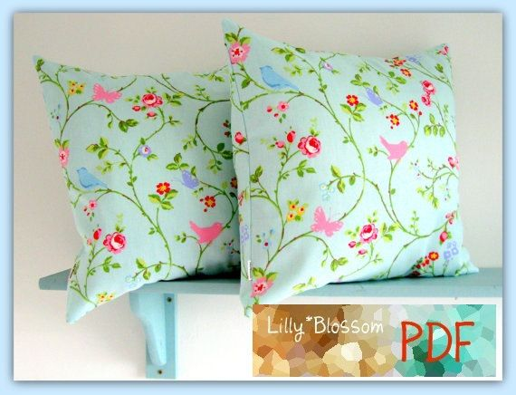 PDF Sewing Pattern Simple Envelope Style Cushion by LillyBlossom