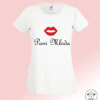 Pani Młoda. Koszulka dla Pani Młodej, poczuj atmosferę ślubu już podczas planowania. Idealna na wieczór Panienski.