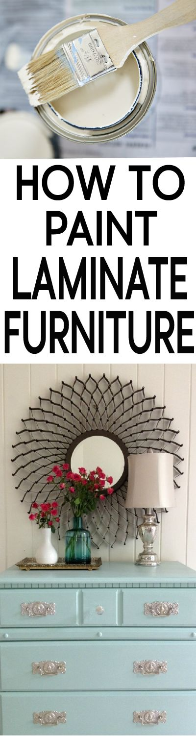 YES you can paint laminate furniture.  Learn how to do is correctly!