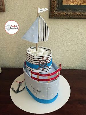 ~ Marilyn's Diaper Castle ~: Boat Diaper Cake