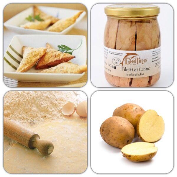 Ingredienti per i #saccottini di #tonno e #patate (dosi per 4 persone)  rotolo di pasta brisée 200 gr di tonno all'olio d'oliva (http://www.degustaci.it/pesce-e-derivati/filetti-di-tonno-in-olio-d-oliva.html) 4 patate medie  1 dl di latte  origano q.b.  2 cucchiai di parmigiano grattugiato  sale q.b.  pepe q.b.  Segui tutta la preparazione sulla nostra pagina facebook