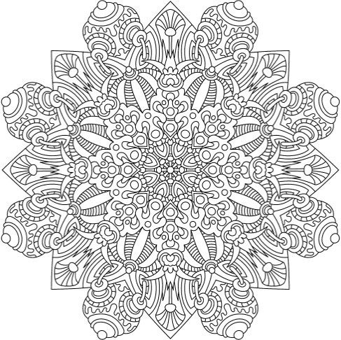 1000 ideas about mandala printable on pinterest for Extreme coloring pages