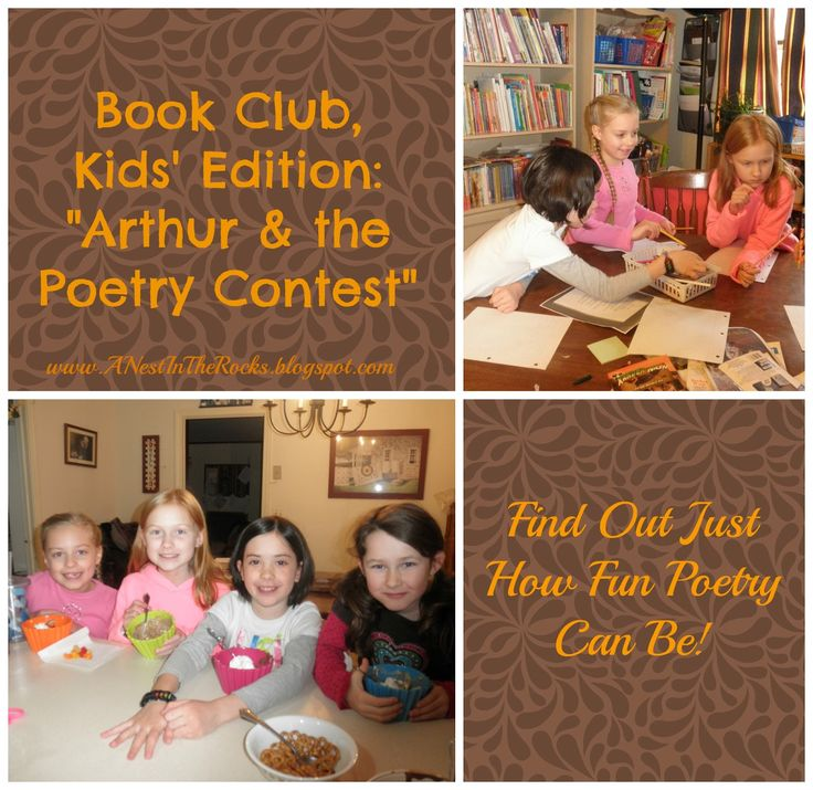 """Book Club, Kids' Edition: """"Arthur & the Poetry Contest - A Nest in the Rocks"""