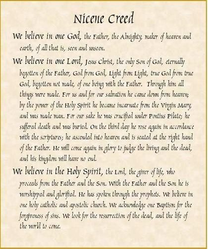 Nicene Creed - The essential beliefs of Catholics