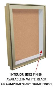 4 Inch Deep Shadow Box Display Case with Cork Board and Light