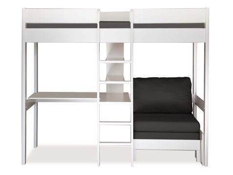 UnoUno 5 (highsleeper + desk + pullout chairbed and cushion set