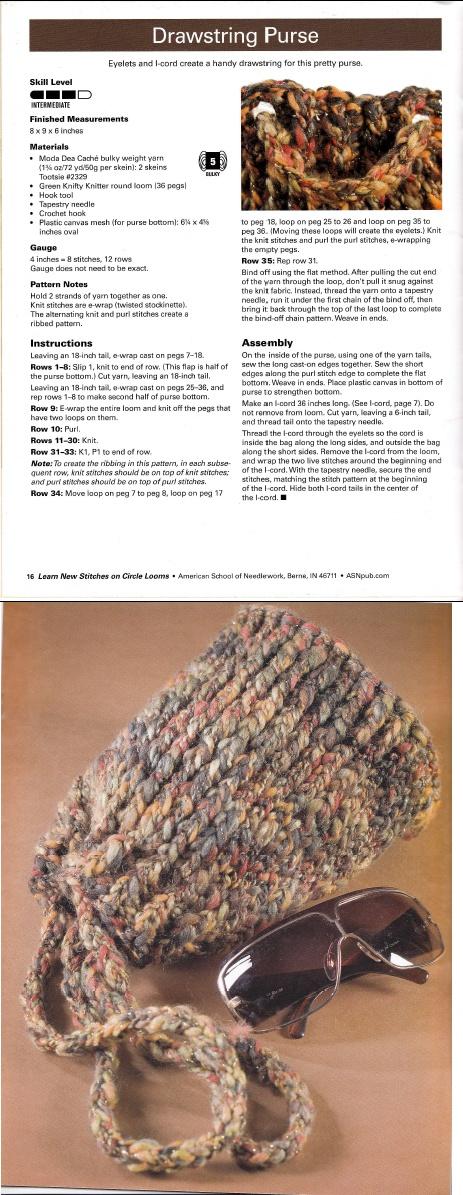 92 best Loom Knitting - Bags images on Pinterest | Crochet handbags ...
