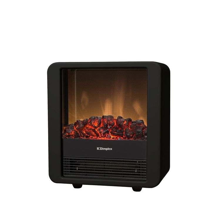 The Mini Cube Black 1.5kW Portable Electric heater with Optiflame coal effect is cute and effective. Plug and play a realistic flames effect that can be used independently of the heat output.