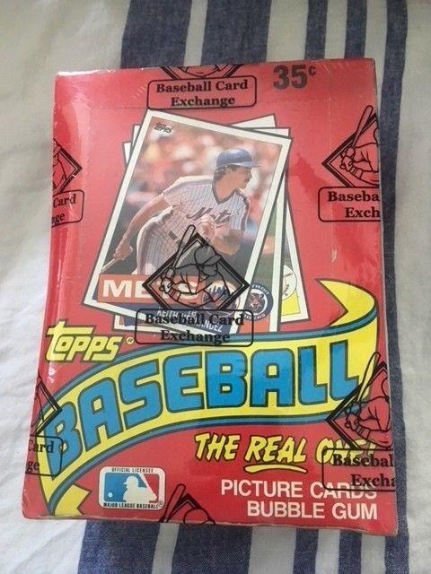 1985 Topps Baseball Unopened Wax Box 36 Packs Bbce Auth Mcgwire