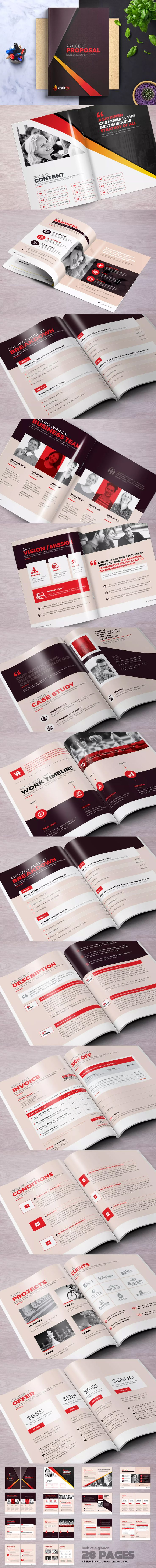 Mejores 84 imágenes de Proposal Brochure Templates en Pinterest