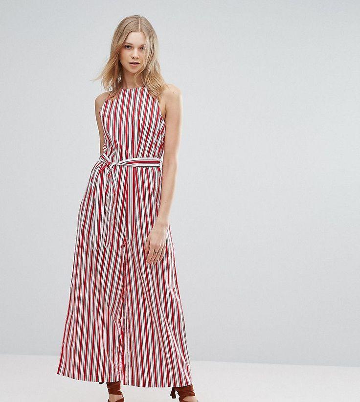 ASOS TALL Stripe Cotton Jumpsuit - Multi