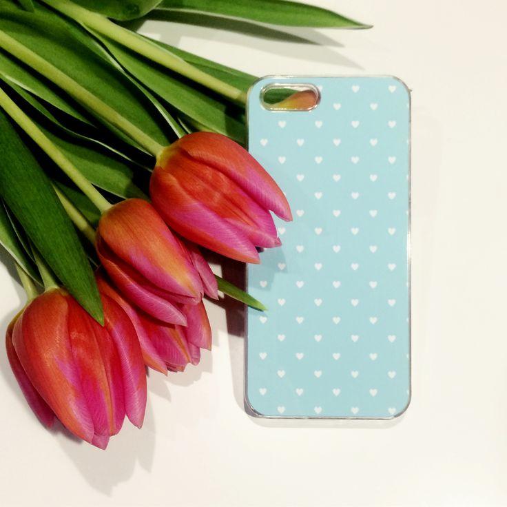 Lovely hearts  #heart #hearts #serce #etui #case #obudowa #telefon #tulipany #tulips #girls #akcesoria #blue #niebieski