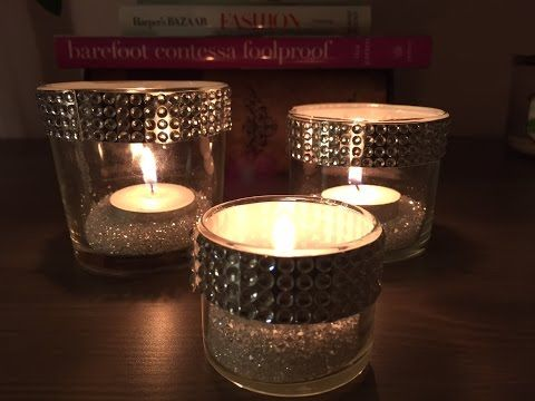 Diy crystal candle holder youtube