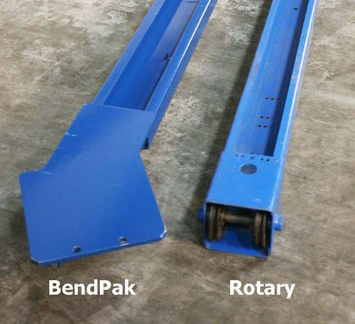 Rotary Bendpak lift comparison