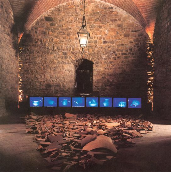 Studio Azzurro, Il giardino delle cose, 1992. Videoambientazione per immagini a infrarossi, videoambiente, Triennale Milano, 1992