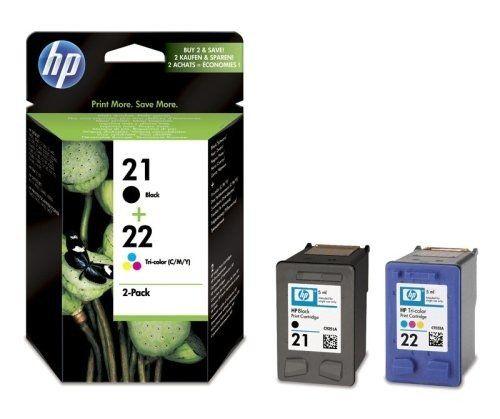 nice HP 21 cartucho de tinta negra de tres-color 22/2-juego de compatibles con los modelos de tinta originales