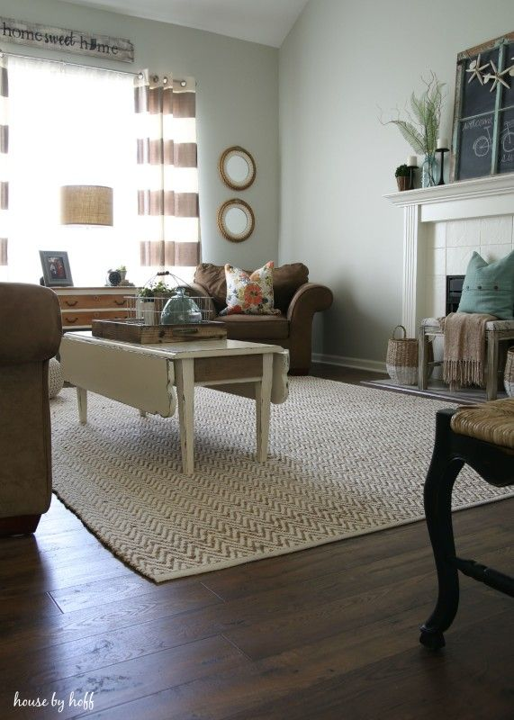 """The new floor is a laminate product by Mohawk and the color is called """"Toasted Chestnut"""".  It's a great product that has a nice rustic texture to it.  I also love the dark, but not too dark color"""