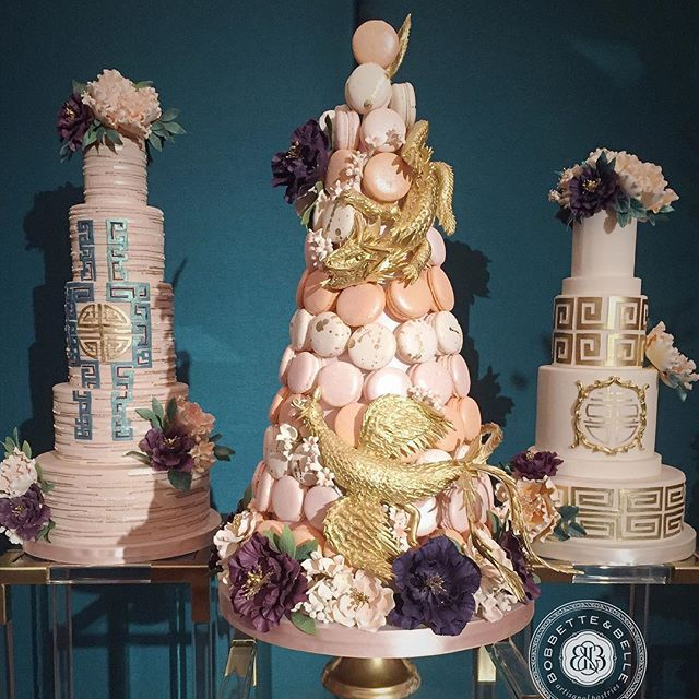 Asian Inspired Wedding Cakes! #bobbetteandbelle