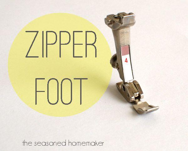 Sewing Machine Feet:: The Zipper Foot - The Seasoned Homemaker