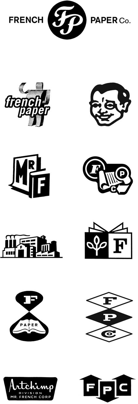 logo design | french paper co. | charles s. anderson