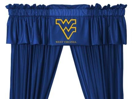 West Virginia Mountaineers Coordinating Valance for the Locker Room or Sidelines Collection by Kentex