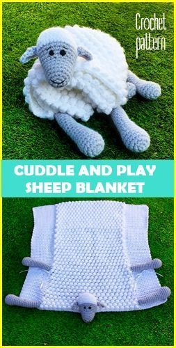 Cuddle and Play Sheep Child Blanket Crochet Sample