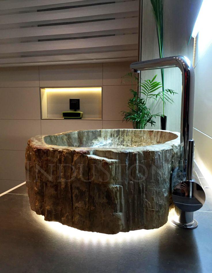 Umywalka kamienna FOSSIL WOOD http://industone.pl/pl/24-fossil-wood