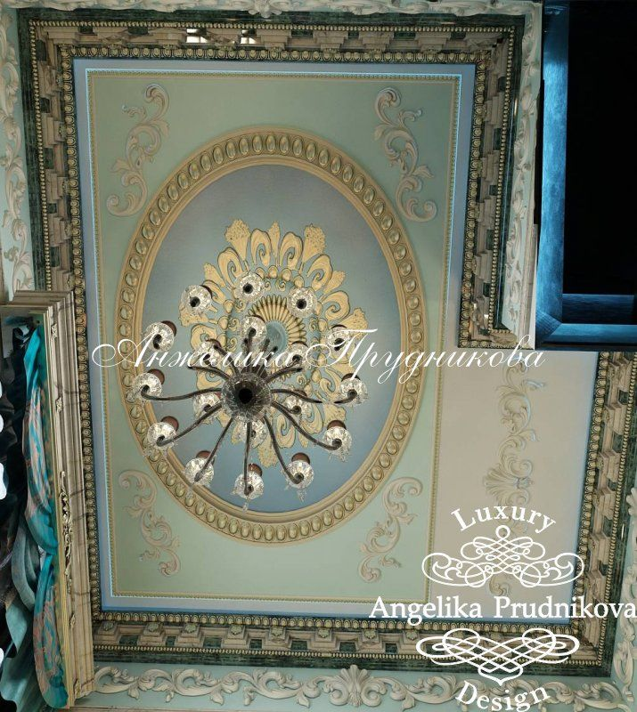 Осташковском шоссе Стиль барокко в интерьере загородного дома на Осташковском шоссе - фото