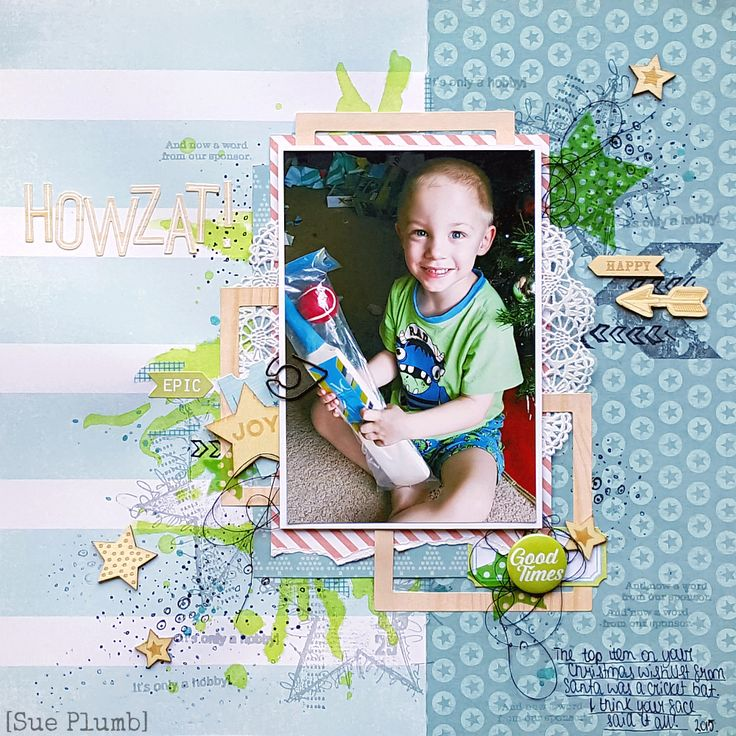 Scrap the Boys November challenge | Sue Plumb