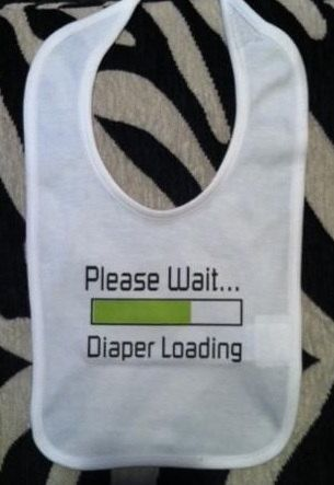 Funny Diaper Loading downloading / computer humor by Ilove2sparkle, $5.99