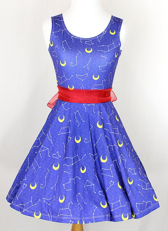 SAILOR MOON Zodiac Constellation Dress  Made to by KYOCATclothing