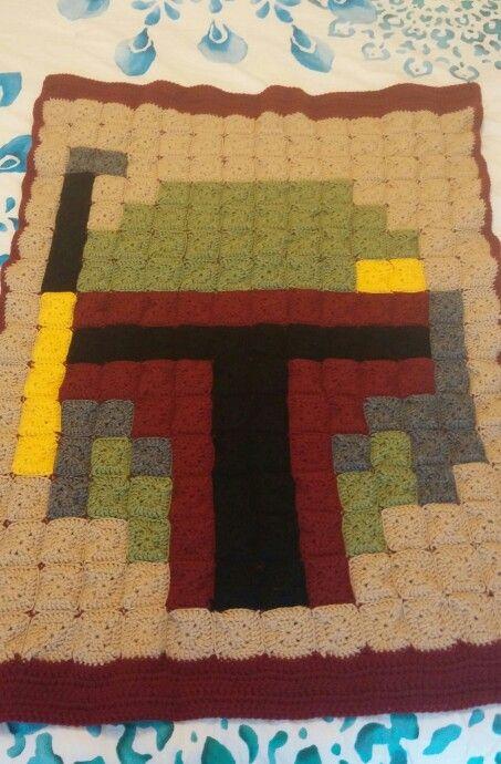 Boba Fett - Star Wars pixel crochet blanket - Pattern: https://de.pinterest.com/pin/374291419001582726/
