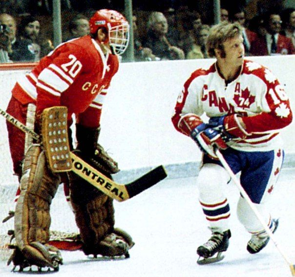 Bobby Hull and Vladislav Tretiak