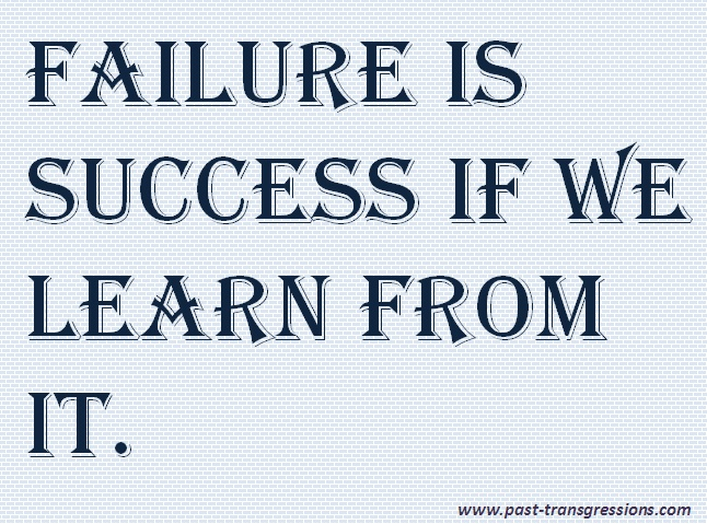 Failure is the Pillar of Success