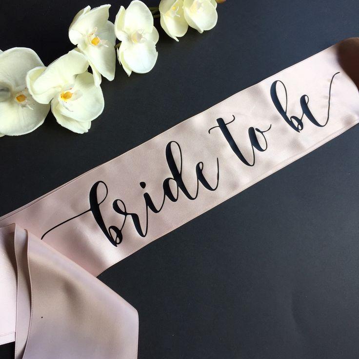 Bride to Be Sash, Bachelorette Sash, Bridal Party Sash, Bachelorette Party…